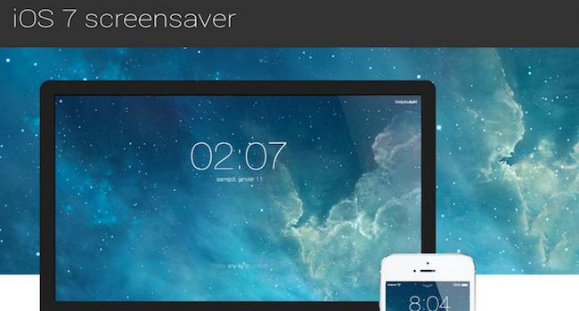 iOS 7 screensaver – MacでiOS7風ロック画面を再現するスクリーンセーバー
