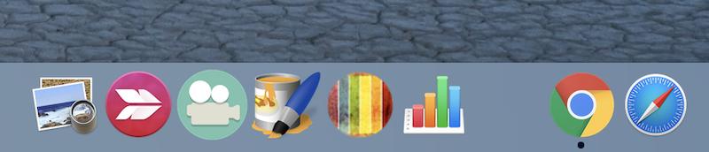 MacのDock上アプリアイコンを常に表示する説明
