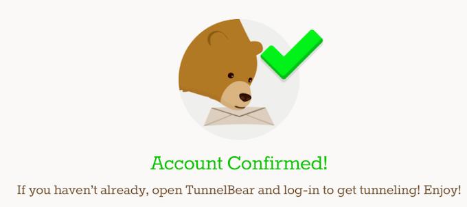 TunnelBearで専用アカウントを作成する方法7