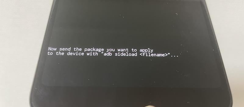 adb sideloadを実行する手順2