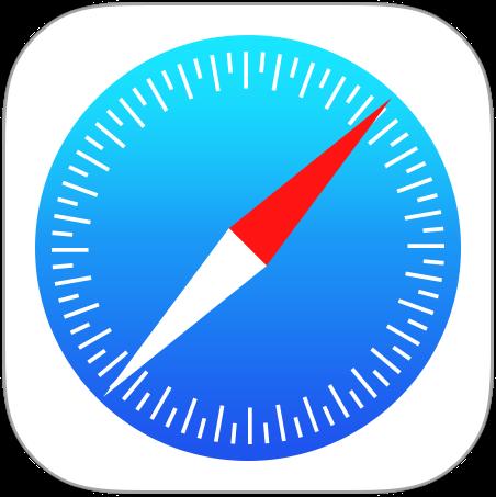 iOS標準「Safari」アプリのアイコン