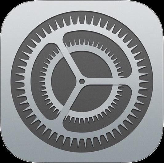 iOS標準「設定」アプリのアイコン