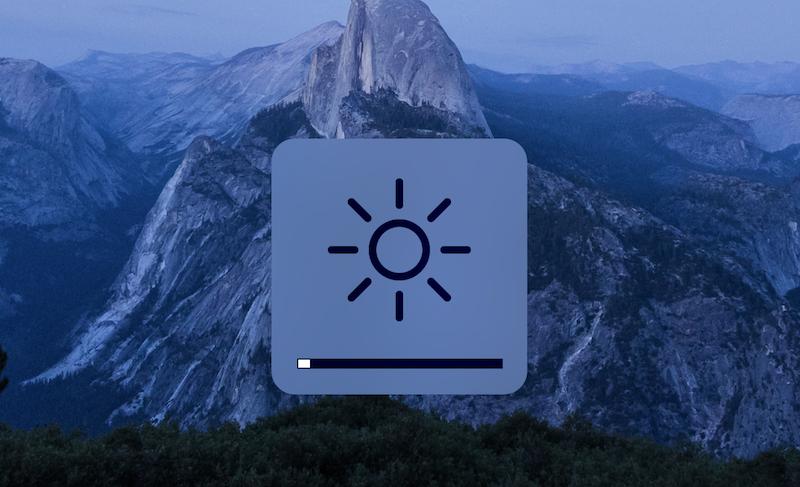 Macの明るさ調整画面