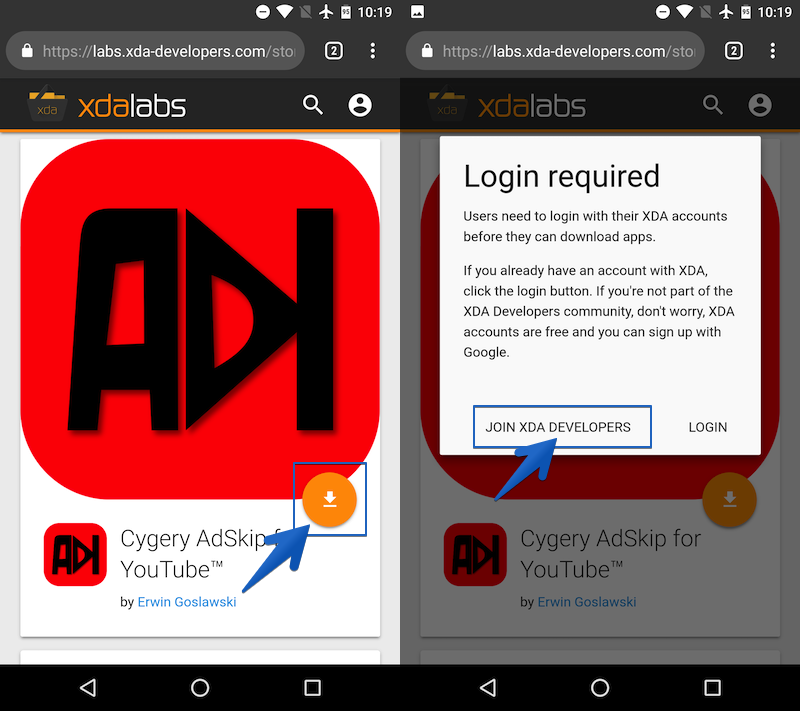 Cygery AdSkipで広告をスキップする手順のキャプチャ1