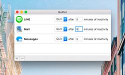 Quitter – Macで指定アプリを一定時間後に終了! 使っていないアプリを自動で閉じる無料アプリ