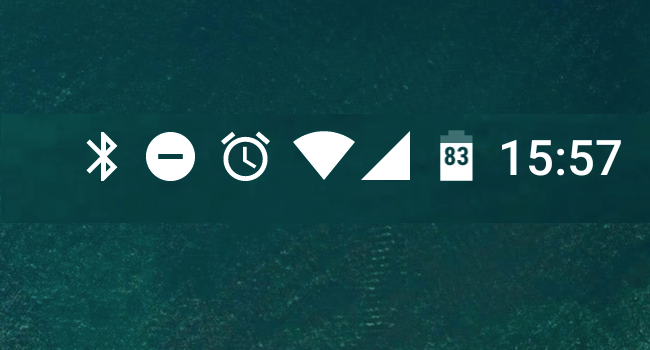 ステータスバーで常に電池残量の割合を表示する方法 [Android 6.0 Marshmallow/7.0 Nougat 共通]