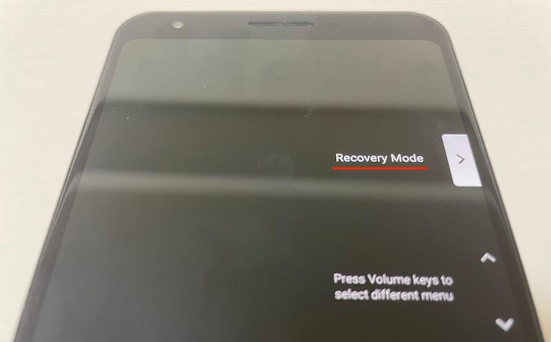 Androidでリカバリーモードを起動する手順1