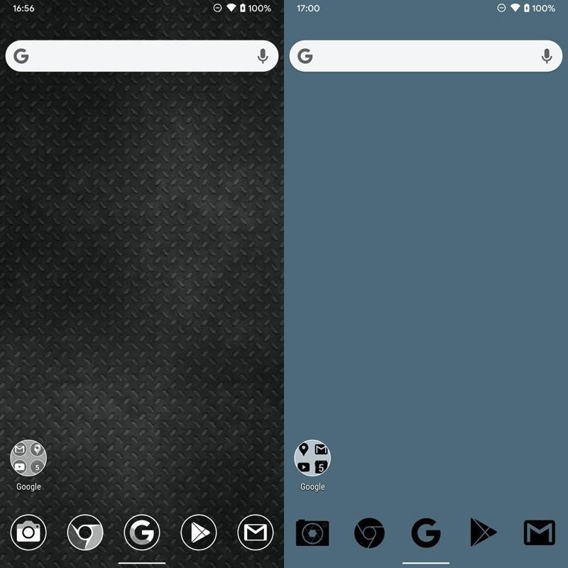 Androidのホーム画面を黒系統へ変える手順