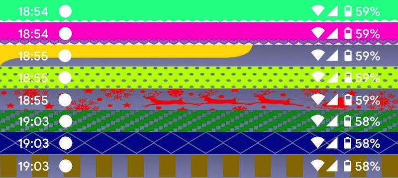 ステータスバーのデザイン例1