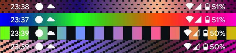 Status Bar & Notch Custom Colors and Backgroundsで好きなグラデーションカラーを背景とする手順2