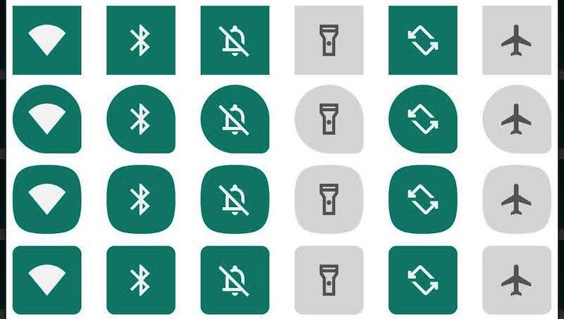 開発者向けオプションのテーマ設定でアイコンの形を変える手順2