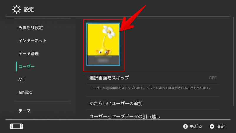 SwitchでSNSアカウントを連携する手順2