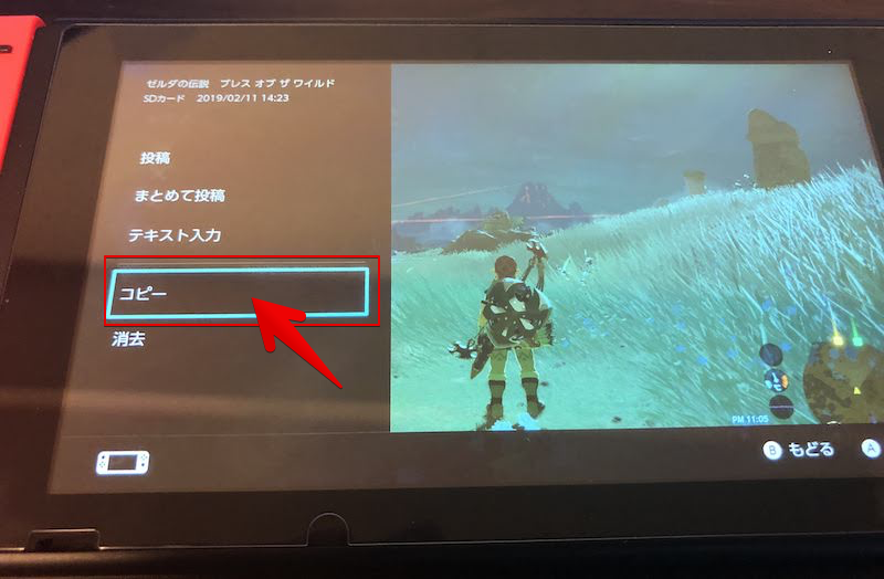 SD経由でSwitchのスクリーンショットを共有する手順8