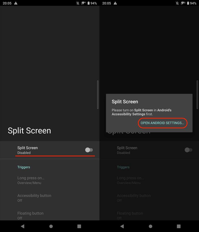 Android 9以降も長押しでマルチウィンドウを起動する手順1