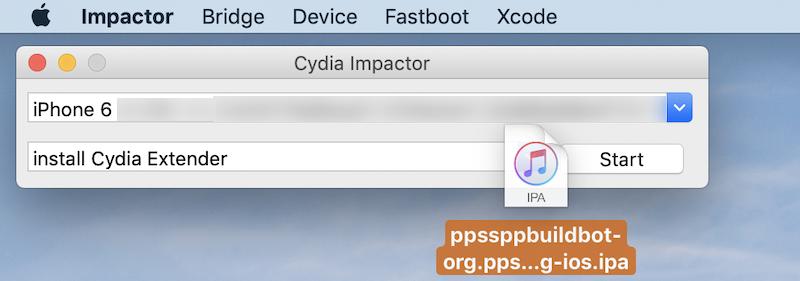 Cydia ImpactorでPPSSPPをサイドロードする手順2