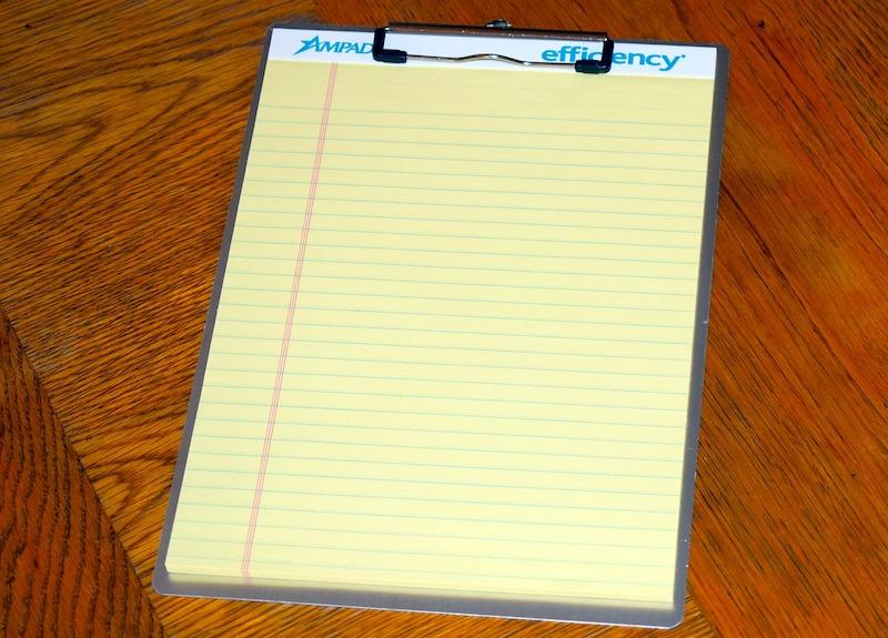文房具「クリップボード」の例