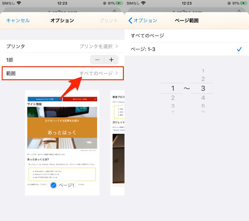 iOS Chromeなどの印刷メニューでPDFを作成する手順5