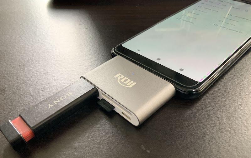 SDカード非対応のAndroidで外部記憶媒体を使う説明