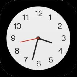 iOS標準「時計」アプリのアイコン